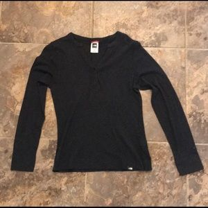 North Face Long Sleeve V neck Sweater Small
